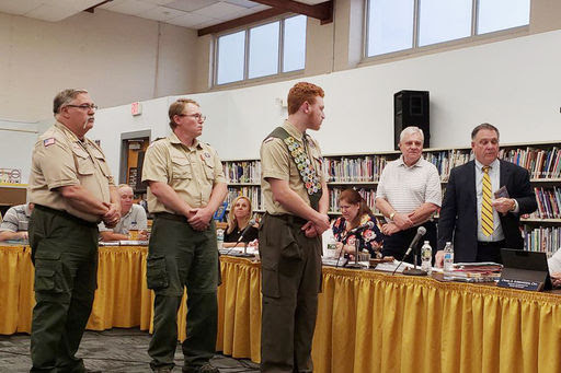 Eagle Scout Honored at BOE Meeting