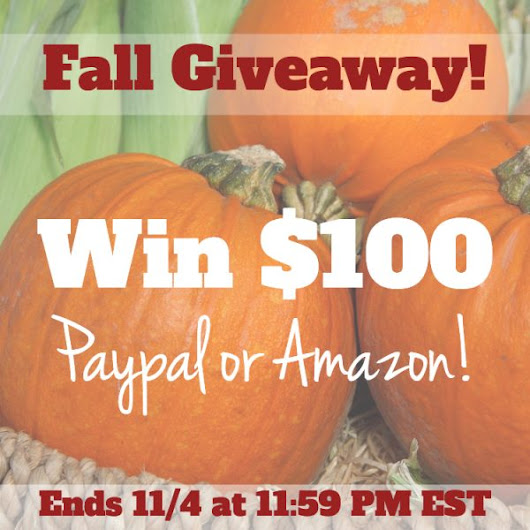$100 Paypal or Amazon Giveaway! - FabGrandma