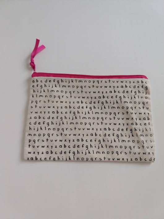 Canvas Pouch / Alphabet Canvas Pouch / Zippered Canvas Pouch / Canvas Pencil Case / Teacher Pencil Case / ABC Pencil Pouch / Canvas Pouches