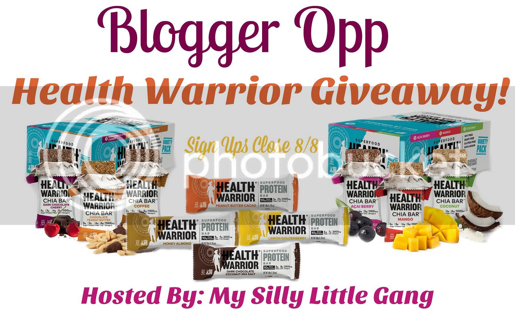 Blogger Opp - Health Warrior