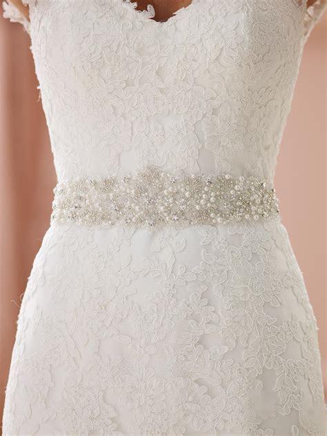 2019 2017 Custom Made Bridal Sashes Wedding Belts White