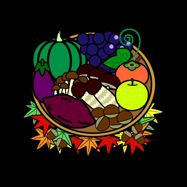 かわいい秋の味覚狩りの無料イラスト商用フリー オイデ43