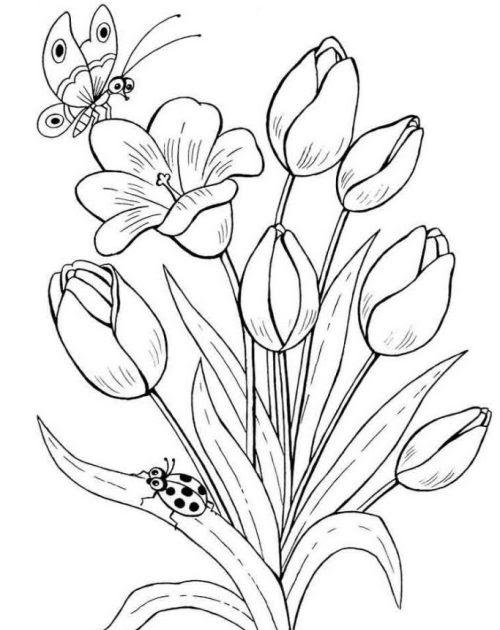 12+ Gambar Lukisan Bunga Yang Mudah Tapi Bagus - Gambar ...