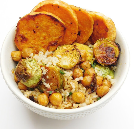 Maple Chipotle Roasted Vegetables, and a Grain Bowl