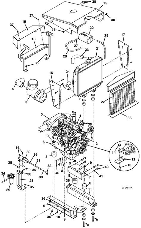 721D2 Engine Assembly 1999 Grasshopper Parts Diagrams- The