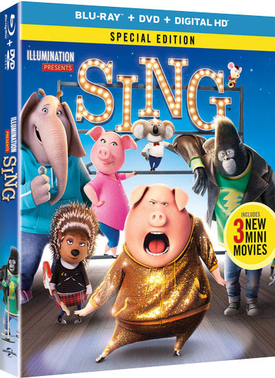 Win one of five copies of the Sing Blu-ray/DVD Combo Pack – HOTCHKA