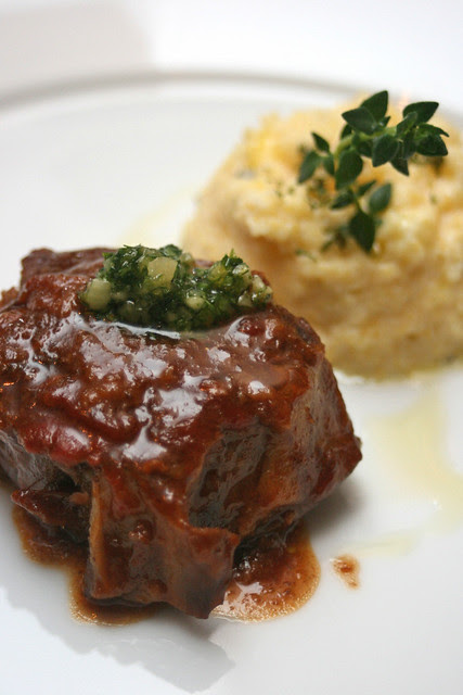 Traditional Veal Ossobuco with Lemon 'Gremolata' on Rosemary Polenta Mousse