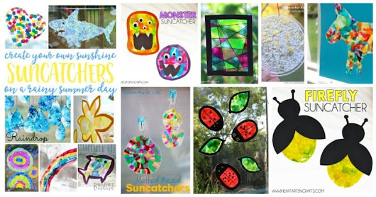 20 Suncatcher Craft Ideas for Kids - Bring Sun to a Rainy Day
