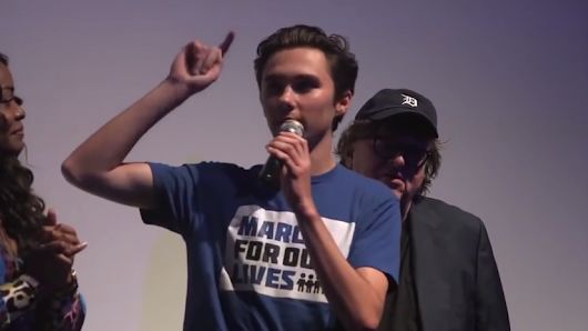 Michael Moore takes mic away after David Hogg urges foreign meddling in American elections - The American Mirror