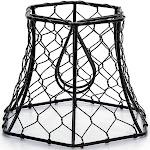 Darice CLE30398 Cleveland Vintage Lighting Chicken Wire Clip-On Hexagonal Shade Black