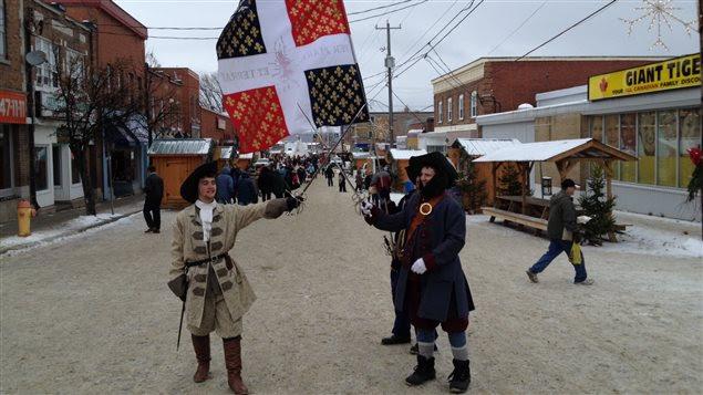 Village Noel Temiscaming sous le thème de la Nouvelle-France à New Liskeard.