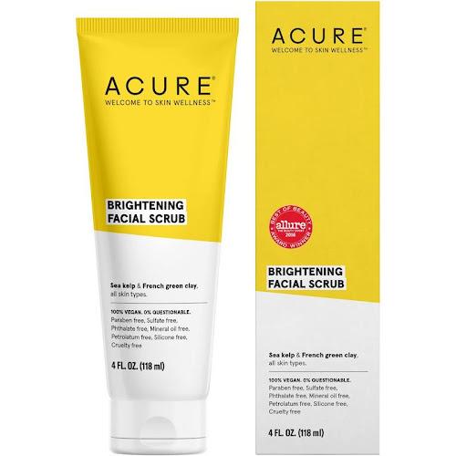 Acure Brilliantly Brightening Facial Scrub - 4 fl oz tube