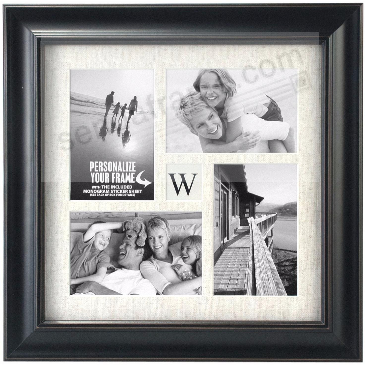 Barnside Black Initial Collage Frame Displays 4 4x6 Photos By