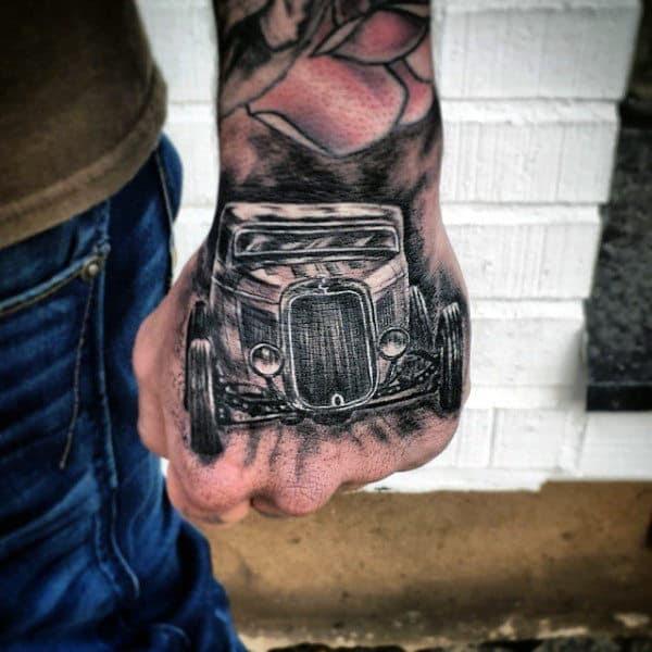 70 Hot Rod Tattoo Designs For Men - Automobile Aficionado ...