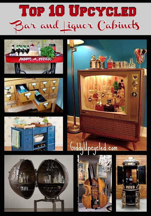 Top 10 Liquor Cabinet and Bar Upcycles - Giddy Upcycled