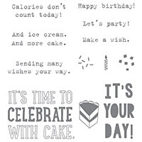 Party With Cake Clear-Mount Stamp Set