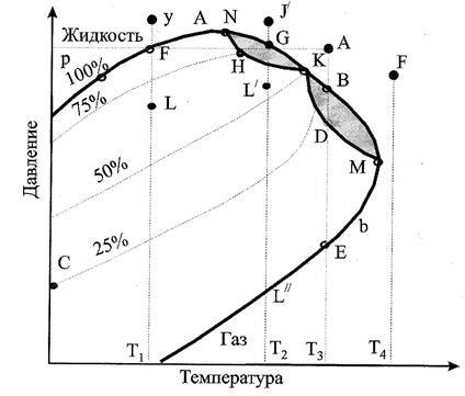 Определение типа залежи по фазовому состоянию пластовой смеси