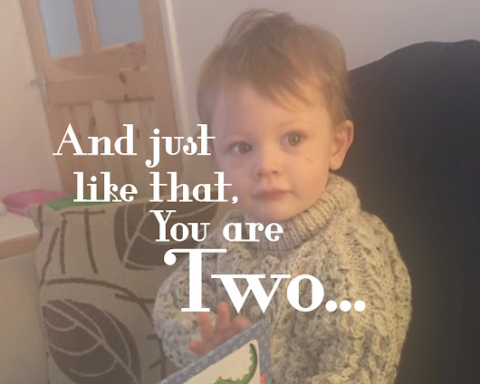 And just like that, you are Two... - All Things Spliced