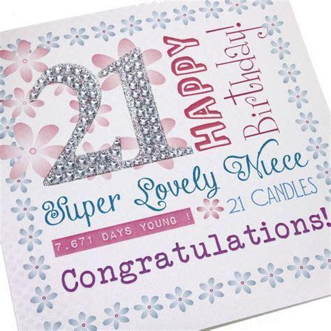 Handmade 21st Birthday Card Sparkling Glitter Diamanté