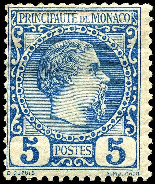 Archivo:Stamp Monaco 1885 5c.jpg