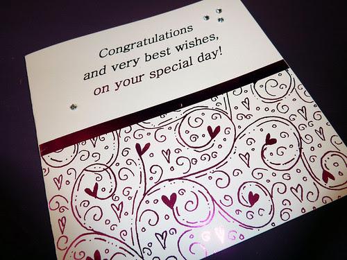 Congratulations Special Day Card by InspiredByScript.com