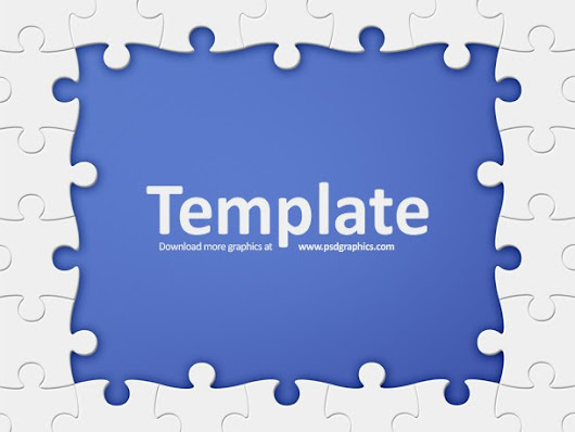 Puzzle frame template - 365psd