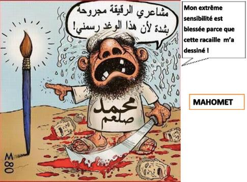Mahomet - mon extreme sensibilite est blessee parce que cette racaille m-a dessine