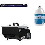 "ADJ Mister Kool II Fog Machine with 48"" Black Light & 1 Gallon Fog Juice Fluid"