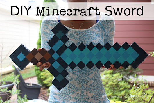 DIY Minecraft Sword (Wooden Sword Tutorial) - Handmade with Ashley