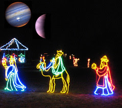 Three Wise Men with Jupiter and Venus