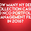 Junk Debt Buyer NCO Portfolio Management Inc. Filed Only 1 New York Debt Collection Cases In 2016