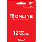 Nintendo eShop Switch Online 12 Month Sub Card (Preloaded) 000838