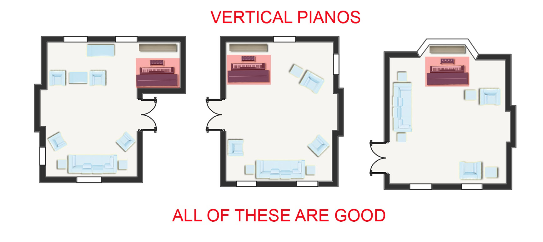 upright piano room placement good examples