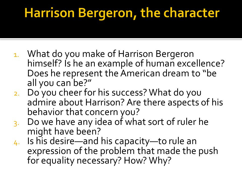 Harrison+Bergeron%2C+the+character