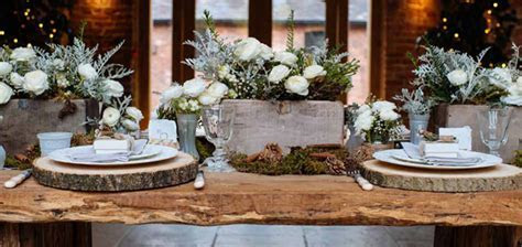 Rustic Winter Woodland Wedding Decorations
