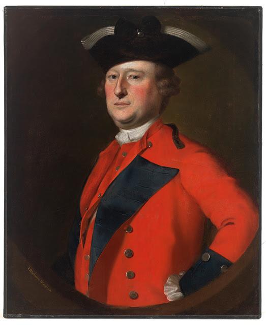 Retrato de Jeffrey Amherst, comandante en jefe de las tropas británicas en las colonias americanas.