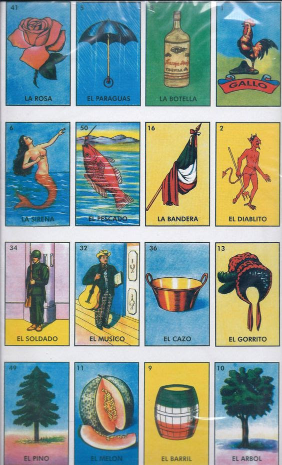Large Loteria Mexican Bingo Card Game | Bingo, Couple and Etsy
