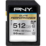 PNY - Elite Performance 512GB SDXC UHS-I Memory Card