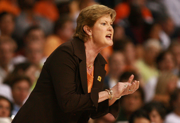 Head coach Pat Summitt of the Tennessee Lady Volunteers coaches against the LSU Lady Tigers during their National Semifinal Game of the 2008 NCAA Women's Final Four at St. Pete Times Forum April 6, 2008 in Tampa, Florida.