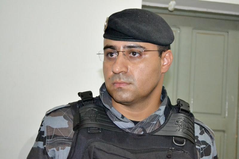 Tenente Gilson, comandante da PM em Fronteiras