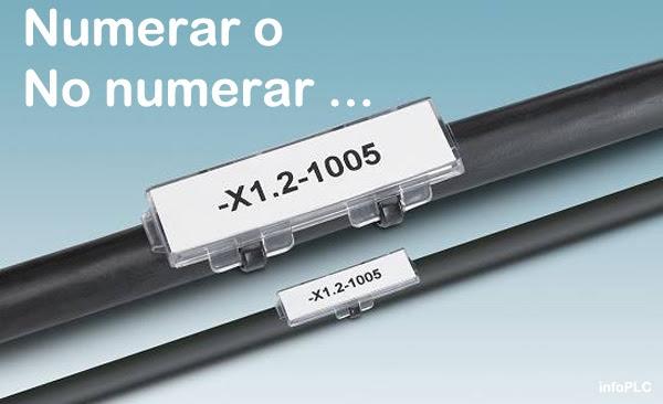 Numerar o no numerar el cableado electrico ...