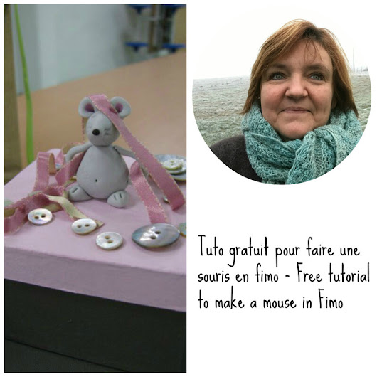 Free tutorial Mouse in Fimo - Tuto gratuit souris en Fimo - Woolderful and co
