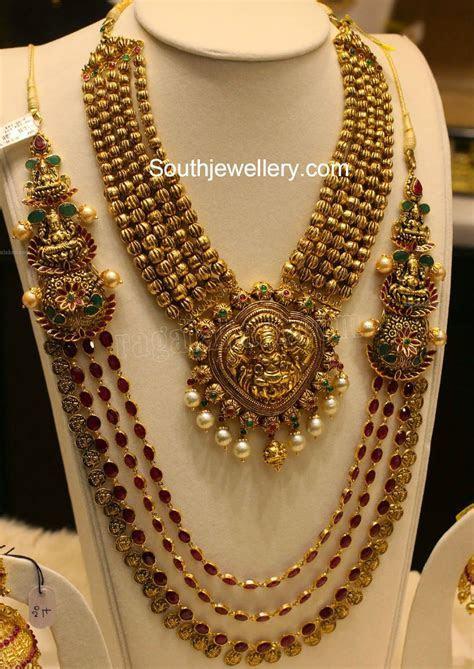 latest temple jewellery designs   antique jewellery