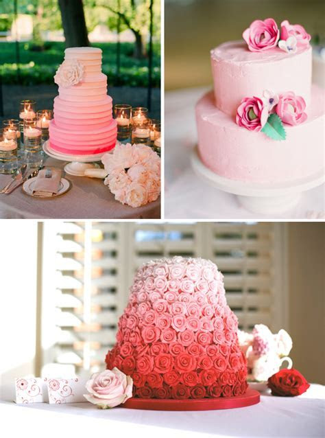 Wedding Cake inspiration images, peach, pink, purple and fruit