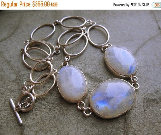 Rainbow moonstone Statement necklace  Moonstone by Studio1980
