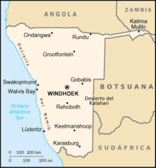 Mapa  Namíbia