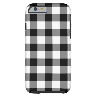 Black and White Gingham Pattern iPhone 6 case