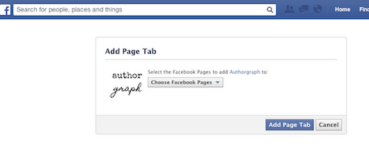 How to Install Your Authorgraph Page as a Facebook Tab