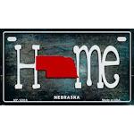 Smart Blonde MP-12018 7 x 4 in. Nebraska Home State Outline Novelty Motorcycle Plate