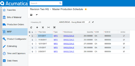 Production Scheduling Software - 3 Steps to Set Up a Master Production Schedule in Acumatica
